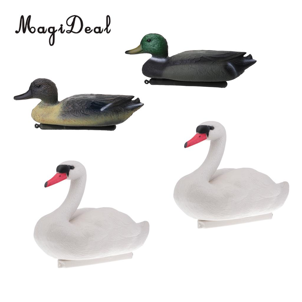 Pack Of 4pcs Floating Duck Drake Decoy Swan Goose Hunting Bait Lawn  Ornament Garden Decor