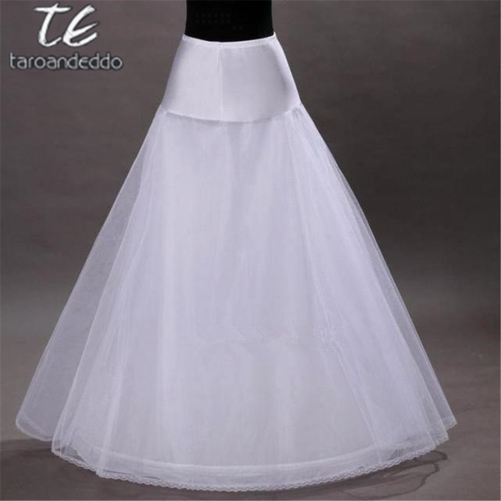 A-line Style White Petticoat For Dress One Hoops Wedding Accessories Underskirt Free Size Crinoline