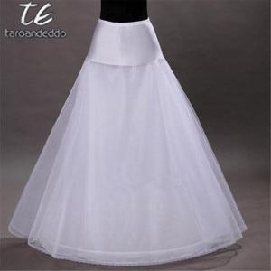 Image 1 - ثوب نسائي أبيض نمط a line لفستان واحد الأطواق اكسسوارات الزفاف تنورة داخلية مقاس الحرة Crinoline