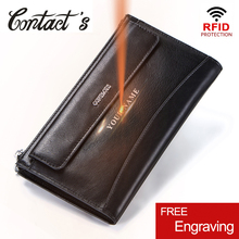 Fashion Men Handbag Rfid Solid Male Day Clutches Genuine Leather Handbags And