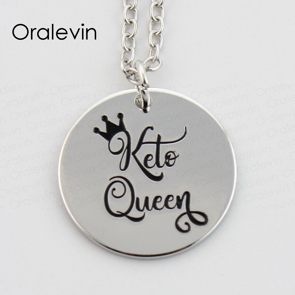 KETO QUEEN Pendant Charms Necklace Gift Jewelry 10Pcs/Lot,#LN385