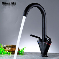 High Quality Copper Hot Cold Double Handle Kitchen Faucet Faucets Mixers Taps Kitchen Mixer Single Cold