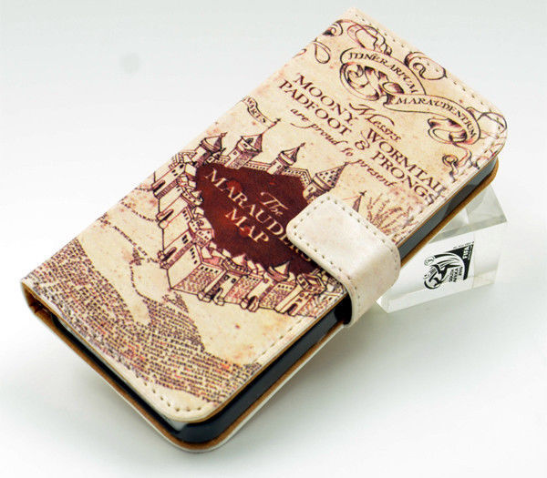 best sneakers e3e5d 8186a US $12.99 |Harry Potter Marauders Map Inspired Leather Wallet Flip Case For  Iphone 5 5S on Aliexpress.com | Alibaba Group