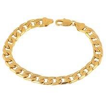 Мужской и женский браслет заполненный золотом хип хоп цепочка