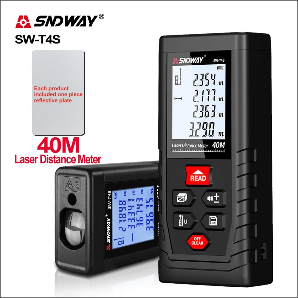 SNDWAY télémètre Laser Roulette télémètre portée Laser ruban à mesurer outil dispositif de recherche SW-T4S/T40 laser télémètre