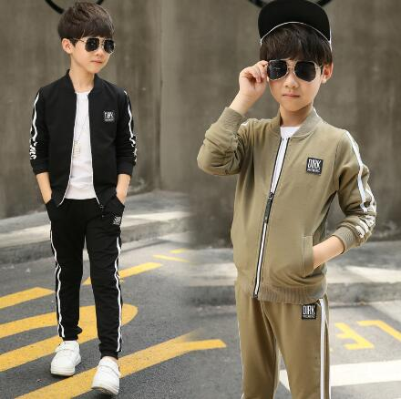Boys Sport Suits Children Long Sleeve Clothing Tracksuit 2018 Spring Autumn Kids 2 Piece Casual Clothes Set 6 8 10 12 Years boys sport suits autumn boy tracksuits spring hooded children clothing set school kids clothes long sleeve outfit costumes