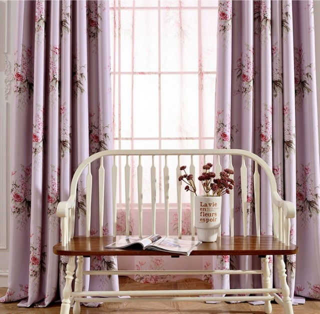 Blinds Past Pink Flower Rose Blackout Curtains Living Room Decor Bedroom Kitchen Window Treatments Tulle Sheer Aa21