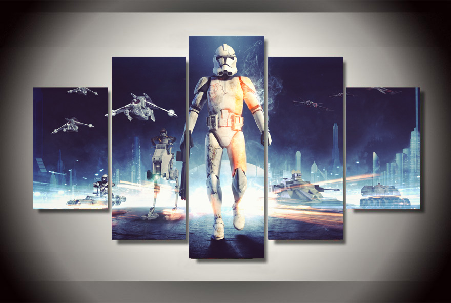Framed Printed Star wars Painting on canvas room decoration print poster picture canvas Free shipping F/1496