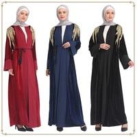 High quality 2019 new velvet embroidery noble and elegant fashion Middle Eastern Dubai Women's Robe