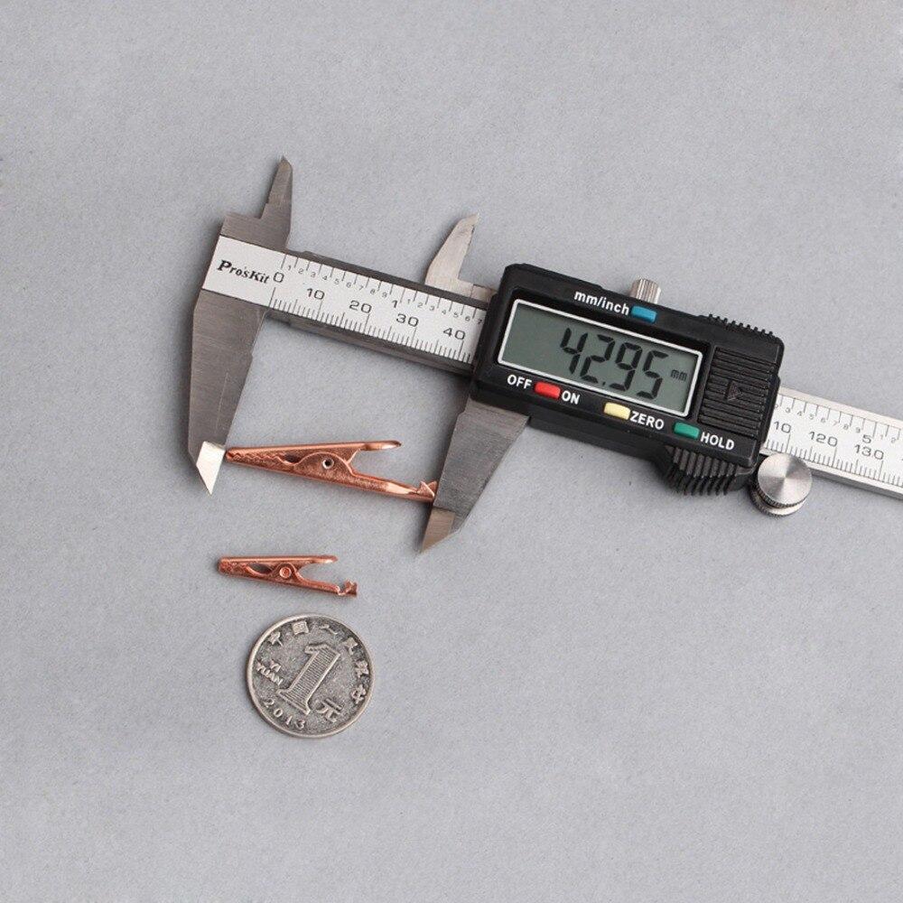 10PCS Copper crocodile alligator clips insulated wire cable clips ...