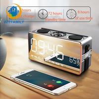 FM Radio Alarm clock Subwoofer Music Player with Wireless Bluetooth Digital LED HD Phone Sound Desktop Clock Stereo
