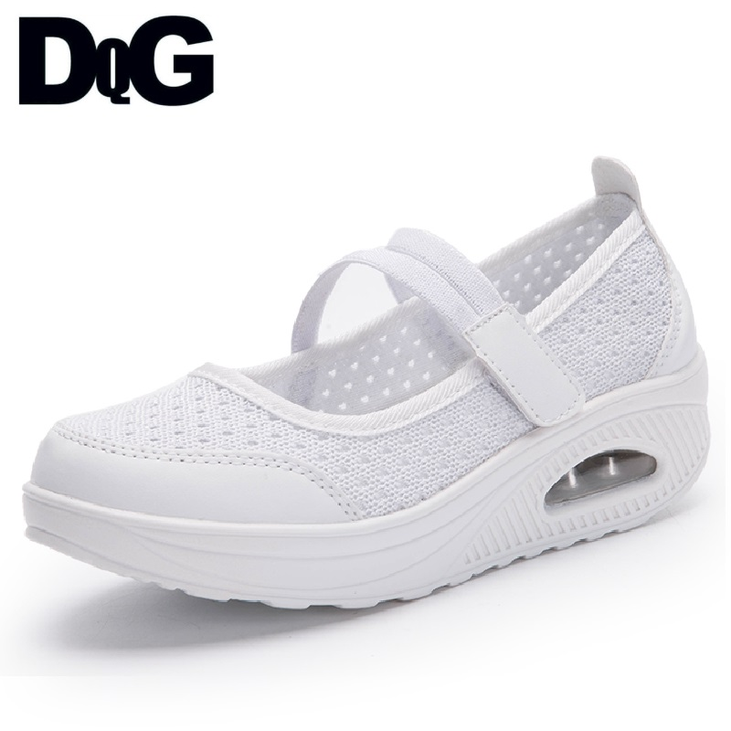 Plat White Solide Infirmière Mary Femme Platfom Mujer Zapatos Femmes black Janes D'été red Appartements Slip Blanc Hw Chaussures Sur Casual Maille O6IgwqUO