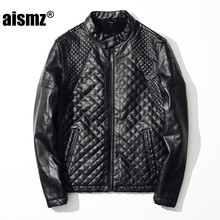 Aismz Men Autumn Winter Motorcycle Leather Jackets Brand Clothing Male Business Casual Coats Jaqueta De Couro