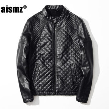 Aismz Men Autumn Winter Motorcycle Leather Jackets Brand Clothing Male Business Casual Coats Jaqueta De Couro Masculino 9050
