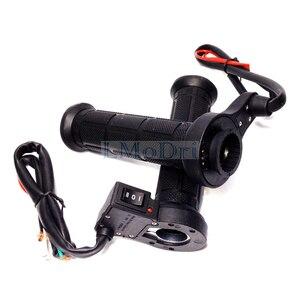 "Image 5 - LMoDri 1 Pair Motorcycle Heated Grips ATV Handle Warmer Motorbike 7/8"" 22mm Electric Heat Hand Grip 12V"