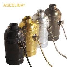 Высокое качество E27 Винтаж Ретро лампа база держатель винт алюминиевый корпус молния светильник винт разъем 4 цвета с переключателем 110 В/220 В