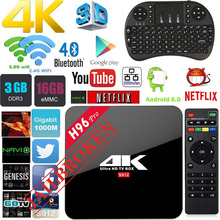 H96 Pro Smart Android TV Box 3/32GB Amlogic S905X Octa Core IP-TV Box 2.4G/5.8GHz Wifi Fully loaded Higher than MX PRO X96 A95X