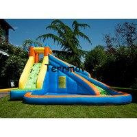 Надувные слайд с бассейном детей Размер надувные Крытый Открытый упругий трикотаж площадка, надувной водной горкой для продажи