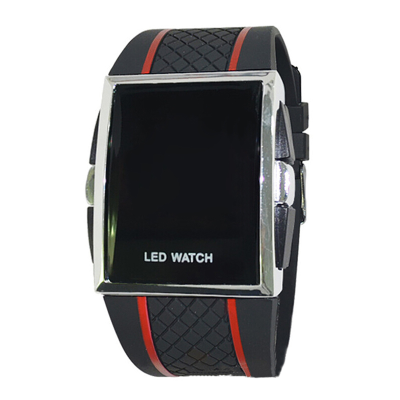 YCYS!new LED Digital Sport Strap Wristwatch For Ladies-Black Red Line