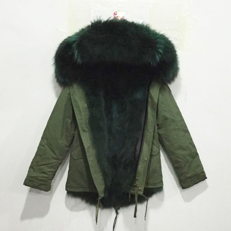 Green Fur Lined Parka