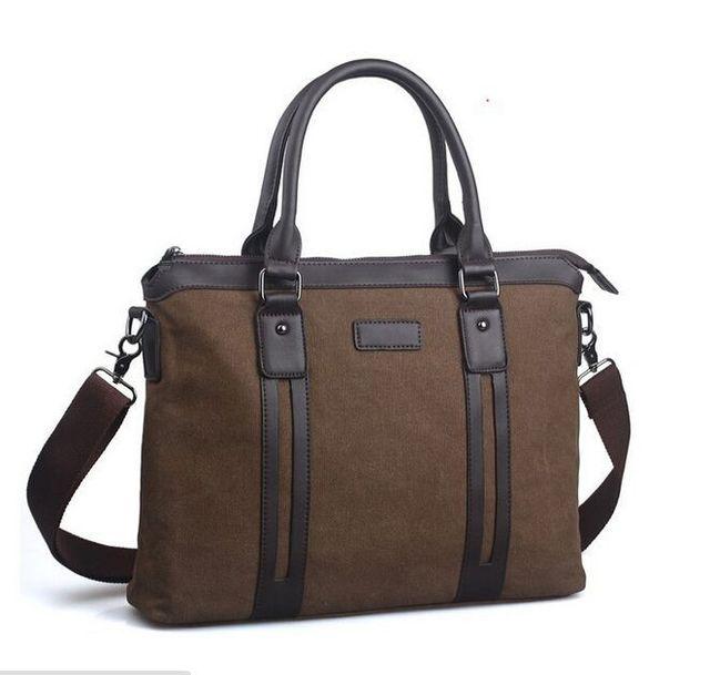 2017 Men Casual Canvas Briefcase Business Shoulder Bag Fashion Men Messenger Bags Computer Laptop Handbag Bag Men's Travel Bags