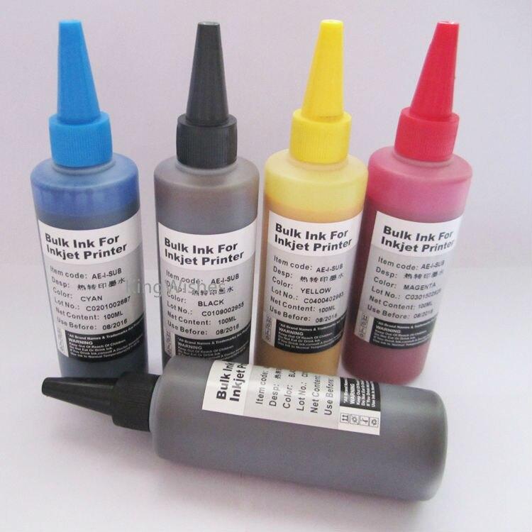 ФОТО 5PCS/Lot 100ML T2621 T2631 T2632 T2633 T2634 Sublimation Ink For Epson XP600 XP605 XP700 XP800 XP610 XP615 XP710 XP810