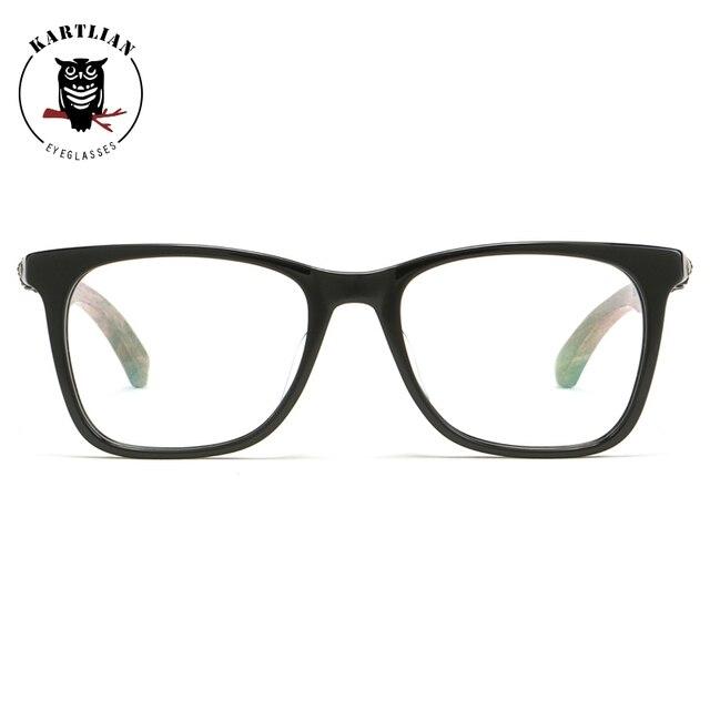 597dcb3e51 Kartlian Wooden acetate frame optical eyeglass square frame eyewear  prescription lenses spectacles clear lens men women glasses