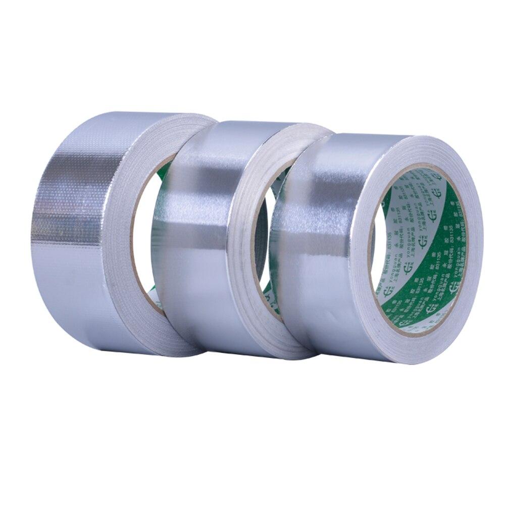 1 unid 5S 13 S papel de aluminio impermeable de aluminio papel adhesivo de cinta de sellado de alta temperatura de reparaciones de cinta de 4,8 cm X 24 m