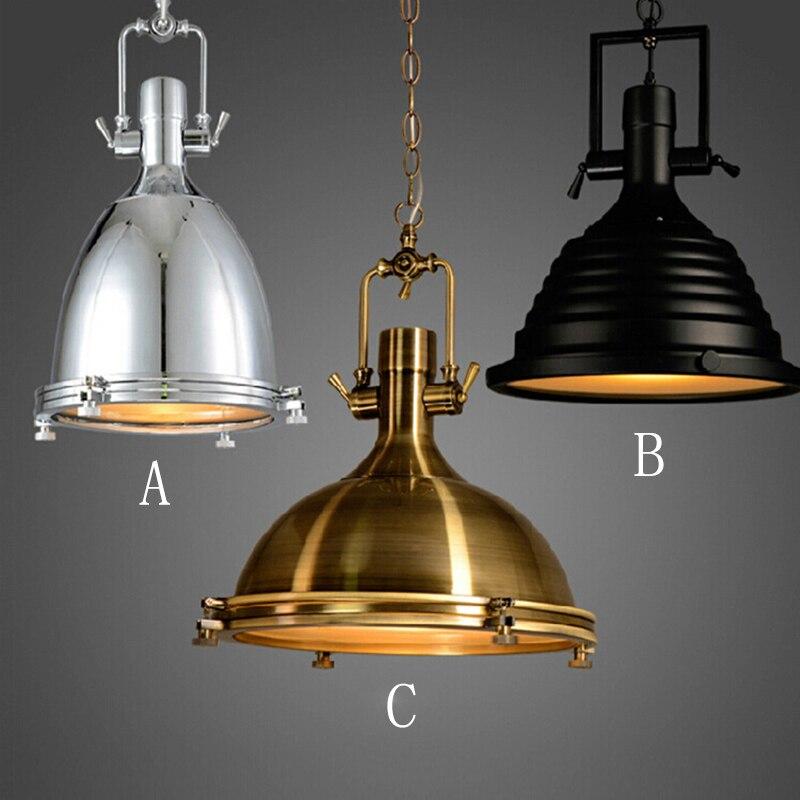3 стиля Loft ретро промышленного висит аппаратные средства металлов подвесной светильник старинные E27 светодиодный свет для Кухня бар кофе св