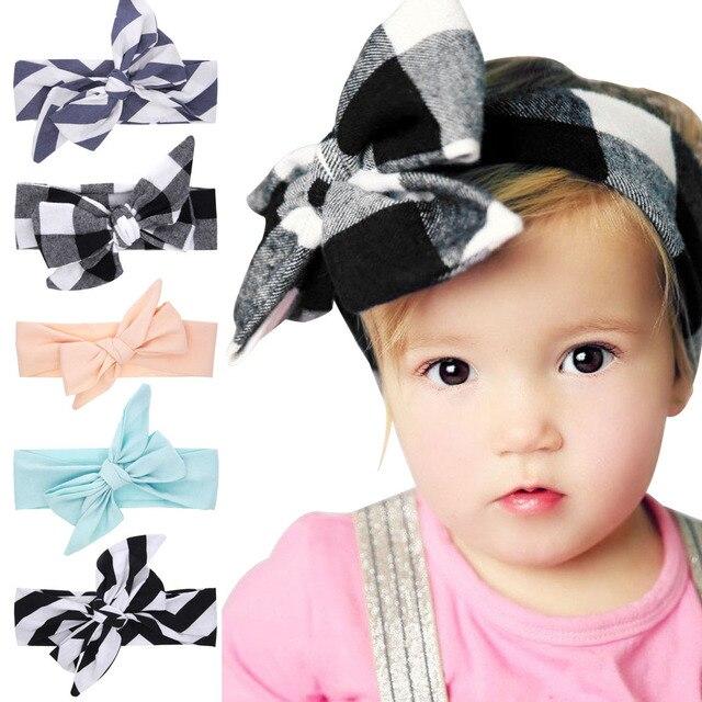 Aliexpress Com Buy Littlge Girls Big Bow Headwraps Diy Turban Tie