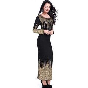 Image 4 - משלוח חינם חדש אפריקאי נשים קיץ שמלת זהב רדיד Slim ארוך שרוול שמלת Bronzing קצף אופנה חמה מכירות