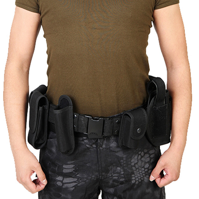 Utility Belt Waist Bag Pouch Mens Security Police Guard Patrol Kit with Radio Holster Tools for outdoor