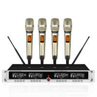 Wireless microphone one for four SKM9000 microphone U segment stage performance lava clip home handheld headset conference|Microphones| |  -