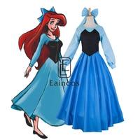 The Little Mermaid Princess Ariel Cosplay Halloween Party Costume Girls Fancy Dress Performance Wear Full Set