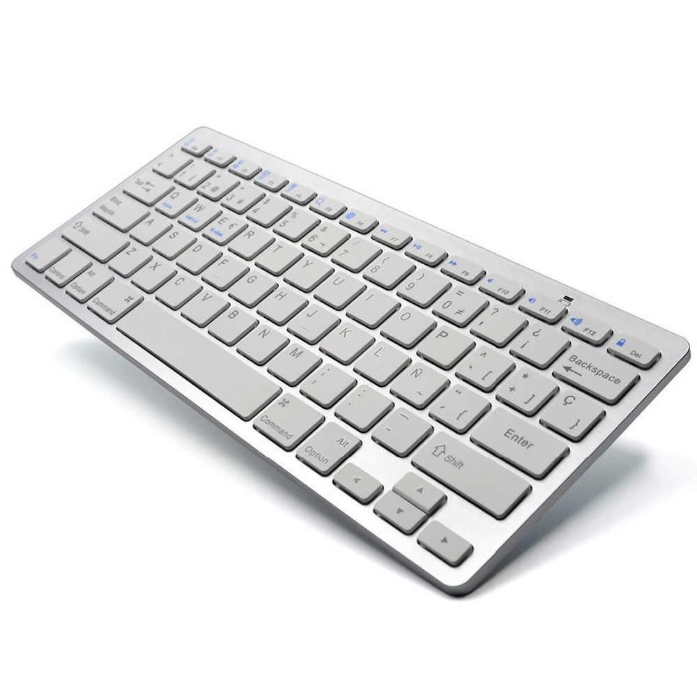 78 キースペイン語英語ワイヤレスキーボード bluetooth キーボードユニバーサル iphone アプリ mac ウィン Xp 10 ピースホームオフィスキーボード