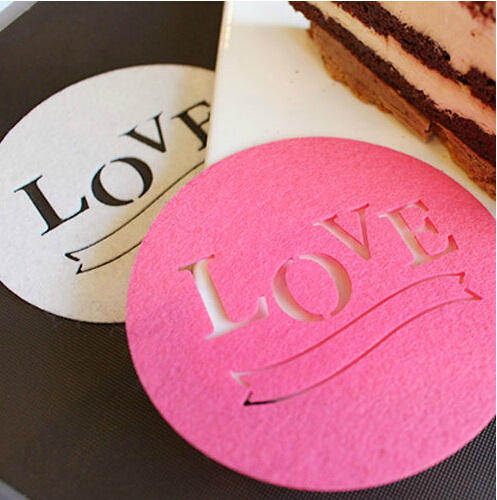 10pcs Wedding Party Birthday Supplies Table Decorations Dessert Wine Bottle Coaster Mat Small Cake Pad