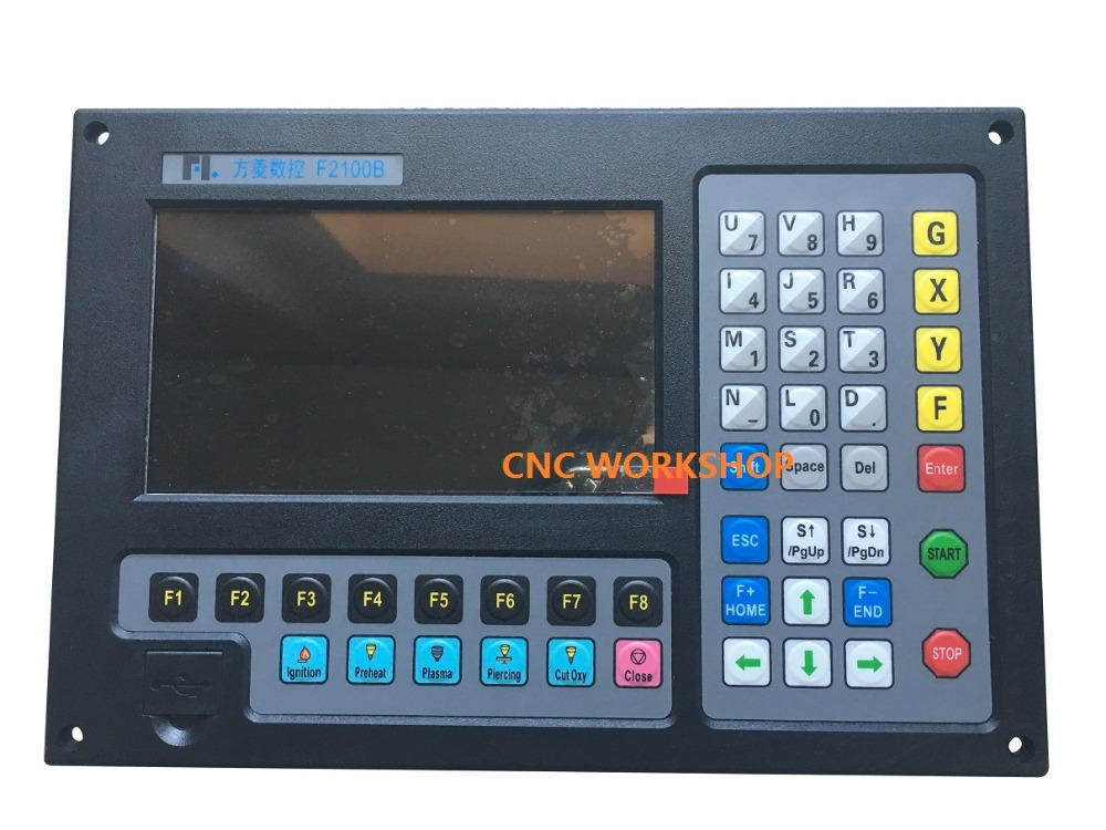 New Panel 2 axis CNC controller for plasma cutting flame cutter precision f2100b цена