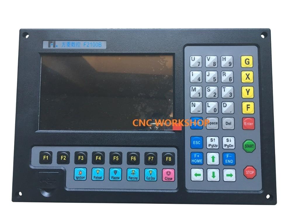 Naujas 2 ašių CNC valdiklis, skirtas plazminio pjovimo liepsnos pjaustytuvo f2100b tikslumui