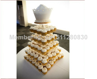 Hot sales in the 6 tiers exquisite acrylic cake tower wedding party birthday party decorations acrylic cupcake stand decoration