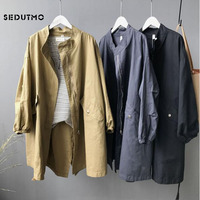 SEDUTMO 2018 Autumn Long Jacket Women Boyfriend Oversize Coat Streetwear Harajuku Vintage Jackets Spring Outerwear ED345