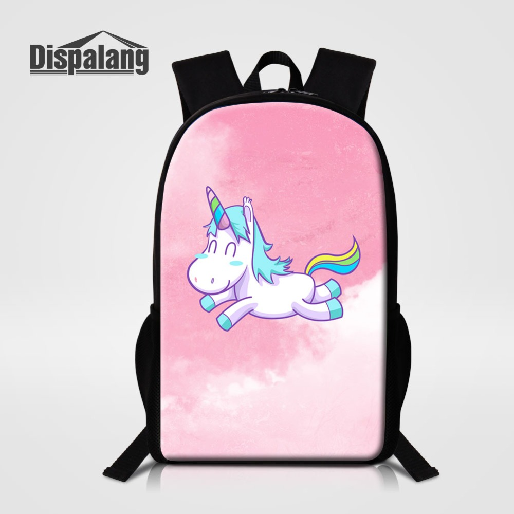 Girl Lovely Unicorn Back Pack To School Animal Pattern Schoolbag Bookbags For Children Daily Daypack Women Fashion Shoulder Bags