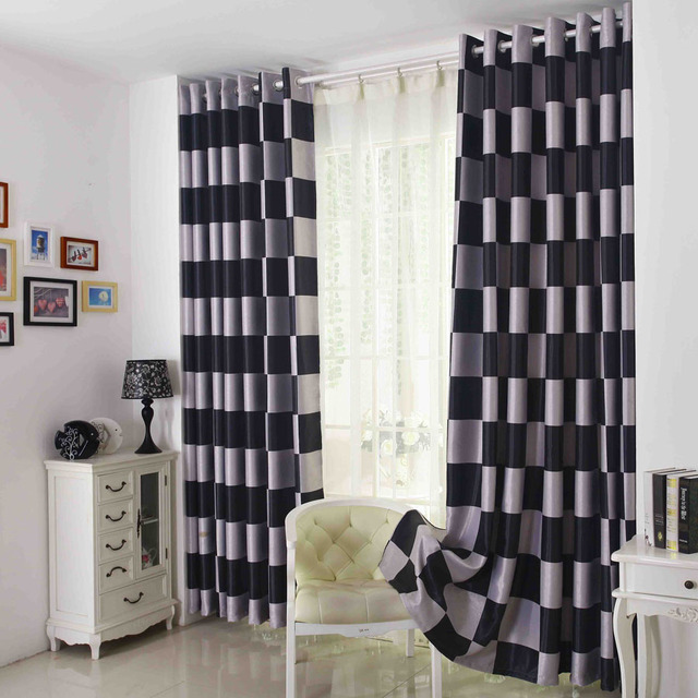 White Curtains black and white curtains for living room : Aliexpress.com : Buy Black and white double sided jacquard thicker ...
