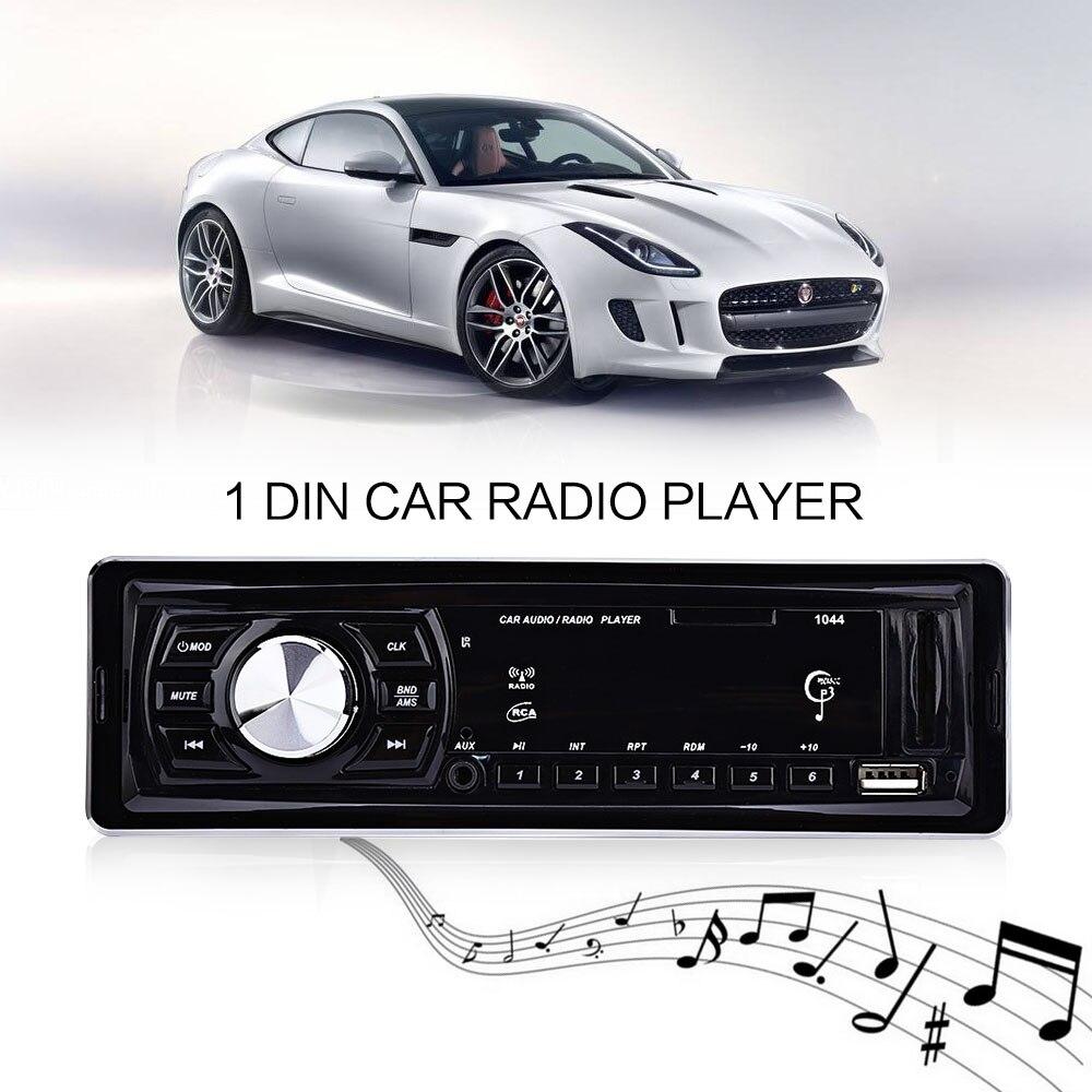 imágenes para 1 Din Coche Reproductor de Radio de Coche Reproductor de MP3 de Audio Stereo Audio Auto Radio FM Raido Control Remoto 4x50 W Apoyo USB SD AUX Autoradio