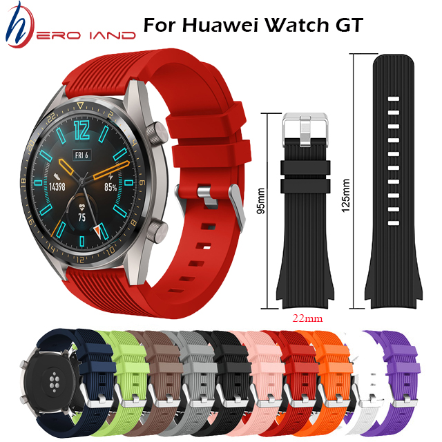 Hero Iand Galaxy Watch 46mm Strap For Samsung Gear S3 Frontier 22mm Watch Band Silicone Bracelet For Huawei Watch GT Wristband