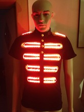 T Colorful Remote Control Led Suit For Dancers Party RGB Luminous Clothes Performance T-shirt Stage Props Shine