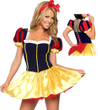 Ensen blancanieves princesa del cuento de hadas dress girl dress vestido de lujo de halloween cosplay traje de mucama juego de rol de disfraces envío gratis