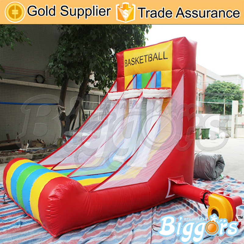 Colorful Portable Inflatable Basketball Hoop With Blower Kids Indoor Or Outdoor Activities