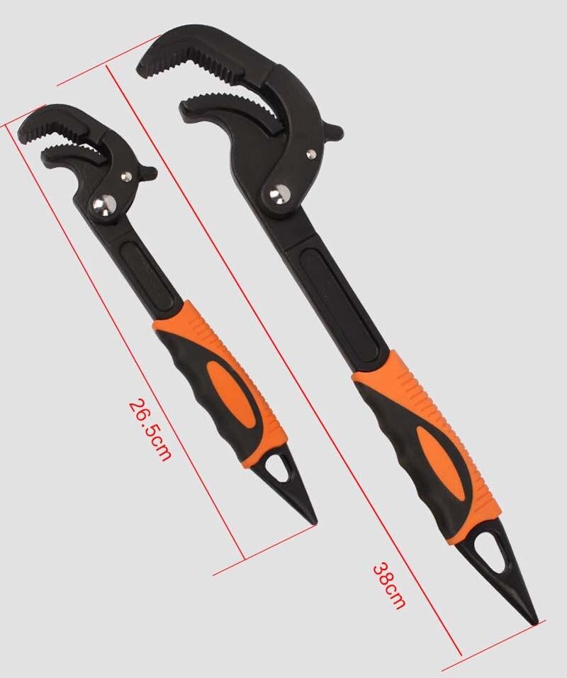 2 pièces Portable réglable rapide Snap NGrip clé universelle multifonctionnelle clé ensemble rapide robinet outil crochet Type - 2