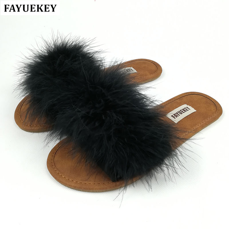 FAYUEKEY 2018 New Fashion Spring Summer Autumn 5 Colors Home Plush Slippers Women Indoor\ Floor Flat Shoes Free Shipping free shipping new spring and summer fashion men s denim jeans slim wear white pantyhose feet