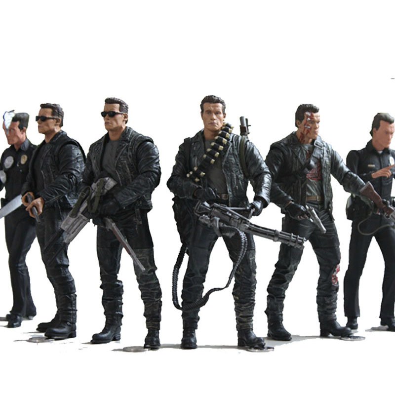 NECA The Terminator 2 Figure T-800 / T-1000 PVC Action Figure Toy Model Toy 7 Types 18cm 7 neca batman begins bruce wayne joint movable pvc action figure collectible model toy 7 18cm